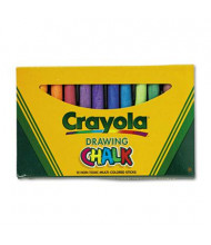 """Crayola Colored 3-3/16"""" Drawing Chalk, Assorted, 12-Sticks"""