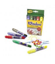 Crayola Washable Window Crayons, 5-Colors