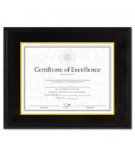 "DAX Hardwood Document/Certificate Frame, 11"" W x 14"" H, Black"