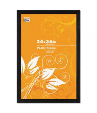 """DAX Black Solid Wood Poster Frame with Plastic Window, 24"""" W x 36"""" H"""