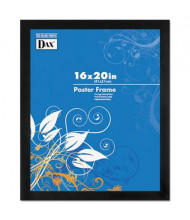 """DAX Black Solid Wood Poster Frame with Plastic Window, 16"""" W x 20"""" H"""