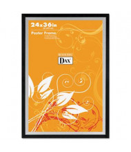 """DAX Metro Series Wood Poster Frame, 24"""" W x 36"""" H, Black and Silver"""