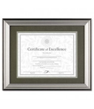 """DAX Charcoal and Nickel Tone Wood Document Frame, 11"""" W x 14"""" H"""