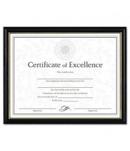 """DAX Two-Tone Wood Document & Diploma Frame, 8.5"""" W x 11"""" H, Black and Gold Leaf"""