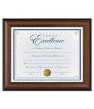 "DAX Prestige Document Frame, Gold Accents, 8.5"" W x 11"" H, Walnut and Black"