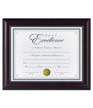 """DAX Prestige Document Frame, Gold Accents, 8.5"""" W x 11"""" H, Rosewood and Black"""
