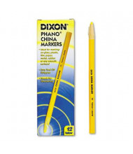 Dixon China Marker, Yellow, 12-Pack