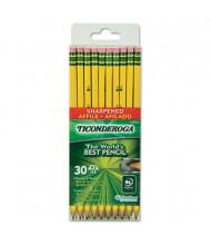 Dixon Ticonderoga #2 Yellow Woodcase Pre-Sharpened Pencils, 30-Pack