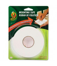 "Duck 3/4"" x 15 ft. Double-Stick Permanent Foam Mounting Tape, White"