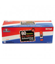 Elmer's .24 oz Washable All Purpose School Glue Sticks, 60/Box