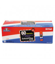 Elmer's .25 oz Disappearing Purple Glue Sticks, Purple/Clear Application, 60/Box