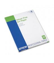 """Epson 8-1/2"""" X 11"""", 20-Sheets, Velvet Fine Art Paper"""