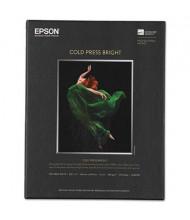 """Epson 8-1/2"""" x 11"""", 21 mil, 25-Sheets, Cold Press Bright Fine Art Paper"""