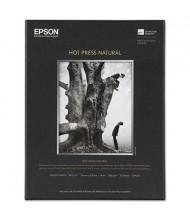 "Epson 8-1/2"" x 11"", 17 mil, 25-Sheets, Hot Press Natural Fine Art Paper"