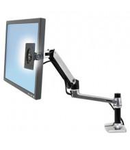 "Ergotron LX 25.5"" H LCD Arm Desk Mount, Aluminum/Black"