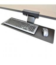 """Ergotron Neo-Flex 10-3/4"""" Track Under-Desk Keyboard Arm, Black"""