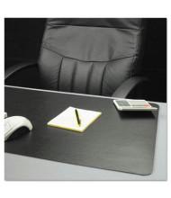 """ES Robbins 24"""" x 38"""" Natural Origins Desk Pad, Matte Black"""