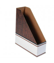 Bankers Box Corrugated Cardboard Oversize Letter Magazine File, Wood Grain, 12/Pack