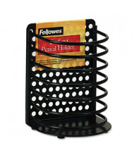 Fellowes Perf-Ect Pencil Cup, Metal, Black
