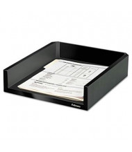 "Fellowes 2-1/2"" H Designer Suites Desk Letter Tray, Black Pearl"