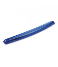 """Fellowes 19-1/2"""" x 2-5/16"""" Gel Crystals Keyboard Wrist Rest, Blue"""