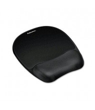 """Fellowes 8"""" x 9-1/4"""" Mouse Pad with Memory Foam Wrist Rest, Black"""
