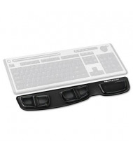 """Fellowes 18-1/4"""" x 3-3/8"""" Microban Gel Keyboard Wrist Rest with Palm Support, Black"""