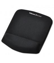 "Fellowes PlushTouch 7-1/4"" x 9-3/8"" Foam Mouse Pad with Wrist Rest, Black"