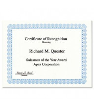 "Geographics 8-1/2"" x 11"", 24lb, 50-Sheets, Blue Conventional Border Parchment Paper Certificates"