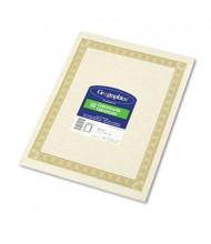 "Geographics 8-1/2"" x 11"", 24lb, 50-Sheets, Natural Diplomat Border Parchment Paper Certificates"