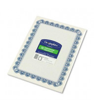 "Geographics 8-1/2"" x 11"", 24lb, 50-Sheets, Blue Royalty Border Parchment Paper Certificates"