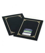 """Geographics 9-3/4"""" x 12-1/2"""" 6-Pack Certificate Document Cover, Black"""