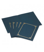 """Geographics 9-3/4"""" x 12-1/2"""" 6-Pack Certificate Document Cover, Navy Blue"""