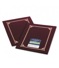 """Geographics 9-3/4"""" x 12-1/2"""" 6-Pack Certificate Document Cover, Burgundy"""