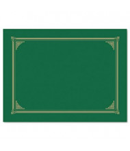 """Geographics 9-3/4"""" x 12-1/2"""" 6-Pack Certificate Document Cover, Green"""