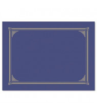"""Geographics 9-3/4"""" x 12-1/2"""" 6-Pack Certificate Document Cover, Metallic Blue"""