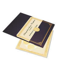 """Geographics 8-1/2"""" X 11"""", 60lb, 6-Sheets, Ivory/Gold Foil Embossed Award Certificate Kit"""