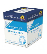 "Hammermill Great White 8-1/2"" X 11"", 20lb, 2500-Sheets, Recycled Copy Paper"