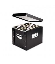 "Snap-N-Store 9-3/4"" D Letter Storage Box, Black"