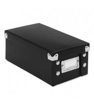 """Snap-N-Store Collapsible Index Card File Box Holds 1100 3"""" x 5"""" Cards, Black"""