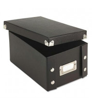 "Snap-N-Store Collapsible Index Card File Box Holds 1100 4"" x 6"" Cards, Black"