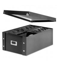 Snap-N-Store 120- Capacity Media Storage Box, Black