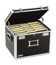 "Vaultz 14"" D Letter & Legal Locking File Chest Storage Box, Black"