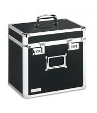 "Vaultz 10-1/2"" D Letter Locking Security Storage Box, Black"