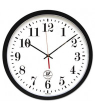 """Chicago Lighthouse 16.5"""" Contemporary Atomic Wall Clock, Black"""