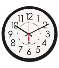 """Chicago Lighthouse 14.5"""" Contemporary Electric Wall Clock, Black"""