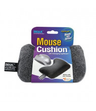 """IMAK 5-3/4"""" x 1-1/4"""" Mouse Wrist Cushion, Gray"""