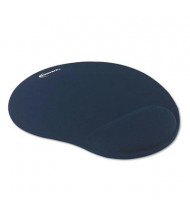 """Innovera 10-3/8"""" x 8-7/8"""" Nonskid Mouse Pad with Gel Wrist Pad, Blue"""