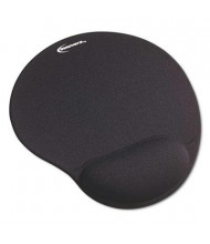 """Innovera 10-3/8"""" x 8-7/8"""" Nonskid Mouse Pad with Gel Wrist Pad, Black"""