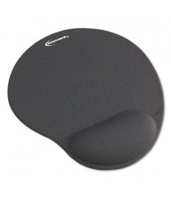 """Innovera 10-3/8"""" x 8-7/8"""" Nonskid Mouse Pad with Gel Wrist Pad, Gray"""